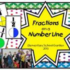 Fractions on a Number Line - Sorting Cards, Worksheet, and Game