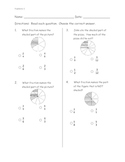 Fractions pre and post test assessment (ITBS style)
