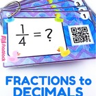 Fractions to Decimals QR Code Fun - 4.NF.6