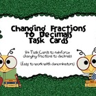 Fractions to Decimals Task Cards