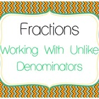 Fractions with Unlike Denominators for 5th Grade