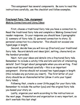 Fractured Fairy Tales:  A Reading and Writing Assignment
