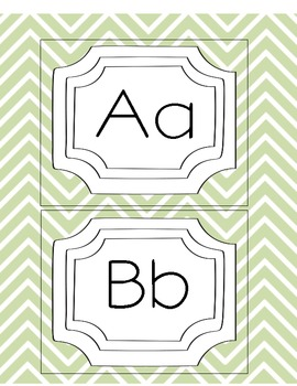 Framed Chevron Word Wall Letters