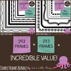 Frames / Borders - BUNDLE Simple Shapes 1 &amp; 2 - 150 Frames