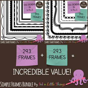 http://www.teacherspayteachers.com/Product/Frames-Borders-BUNDLE-Simple-Shape-Frames-1-2-546687