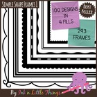 Frames / Borders - Simple Shapes Set 1 - 75 Frames for Com
