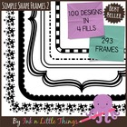 Frames / Borders - Simple Shapes Frames / Borders Set 2