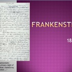 &quot;Frankenstein: a Modern Prometheus&quot; Mary Shelley Powerpoint