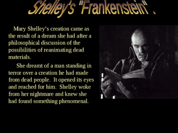 Frankenstein by Mary Shelly powerpoint power point