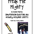 &quot;Freak the Mighty&quot;, Comprehension Questions/Reading Response