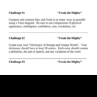 &quot;Freak the Mighty&quot;, by R. Philbrick, Challenges
