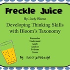 Freckle Juice - Using Bloom&#039;s Taxonomy