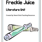 """Freckle Juice"" by Judy Blume, Literature Unit, 36 Total Pages"