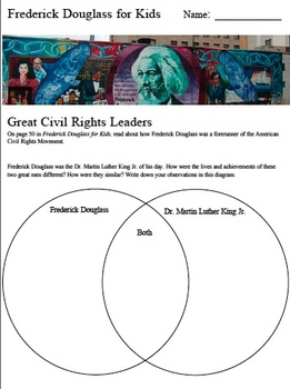 Frederick Douglass for Kids Venn Diagram