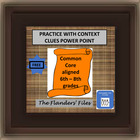 Free  (21 Items) of Middle School Practice with Context Cl