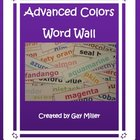 Free Advanced Colors Word Wall