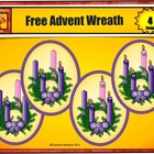 Free Advent Candles and Wreath from Charlotte's Clips