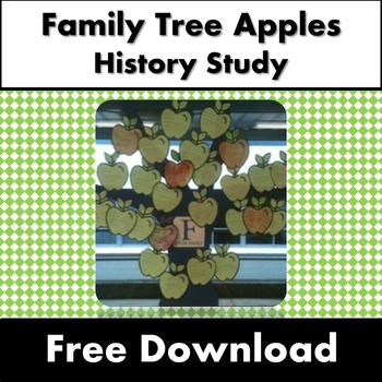 Free Apple Tree Template for Class Family Tree History ACARA Prep