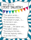 {Are You a Text Talker?} Using the Language of Textual Evi