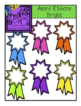 {Free} Award Ribbons Brights {Creative Clips Digital Clipart}