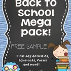 Free! Back to School Mega Pack Free Sample!