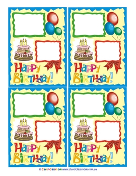 Free! Birthday Awards - 3 pages by Clever Classroom