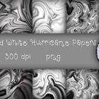 Free Black and White Hurricane Papers