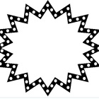 Free Black and White Starburst Frame