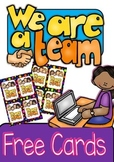 Free Cards - We are a team! parent/teacher's Conference Present