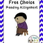 Free Choice or Free Verse Reading Assignment Book Report