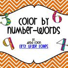 Free Color By Number Word (0-9)