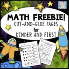 Free! Common Core Cut-and-Glue Math Workbook Pages for K & 1st