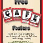 Free Daily 5 CAFE Posters - 1&amp;2 Grade Ladybug Fun