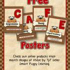 Free Daily 5 CAFE Posters - 1&2 Grade Puppy Love