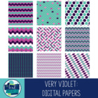 Free Digital Paper Pink,  Purple, and Turquoise