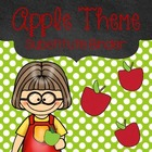 Free Editable Apple Themed Substitute Binder