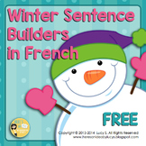 {Free} FRENCH - Winter Sentence Builders - L'hiver