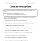 Free FUN Commas with Introductory Phrases Worksheet