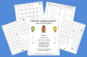 Free Festive Measurement - Area and Perimeter