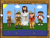 Free Fishers of Men with Jesus Clip art
