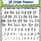 Free Font - Personal or Commercial Use: KB StripedPajamas