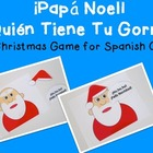 Free Fun Christmas Game for Spanish Class