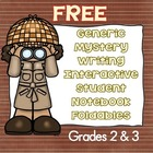 Free Generic Mystery Writing with Student Notebook Interactives