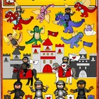 Knights, Castles, Horses, Wizard and Dragon Clip art