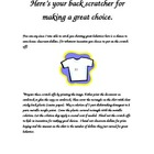 "Free Good Behavior Incentive ""Back Scrachers"""