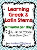 Free Greek and Latin Stems Strategy for Teachers