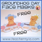 Free Groundhogs Day Face Masks