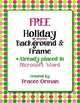 Free Holiday Color Polka Dots Clip Art Frame in Word