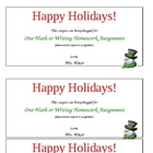Free Homework Coupon - Holidays