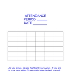 Free Interactive Attendance/Seating Template-Word Document